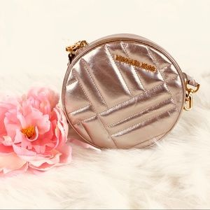 Michael Kors metallic canteen crossbody bag